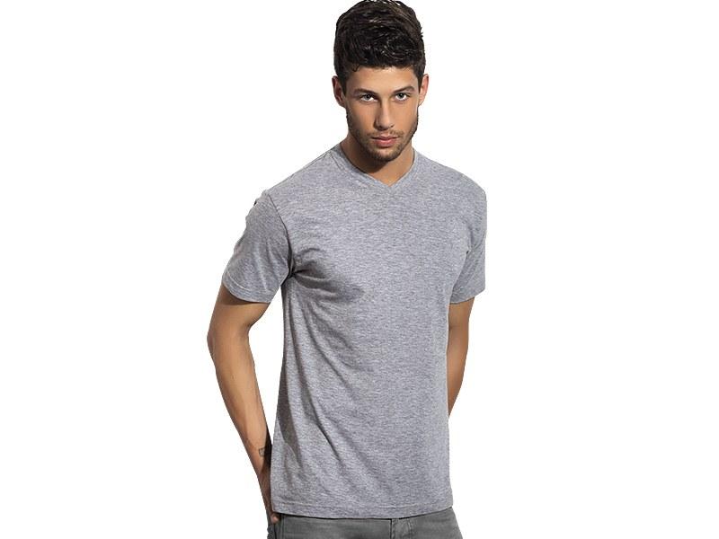 V-neck T-shirt, 100% cotton