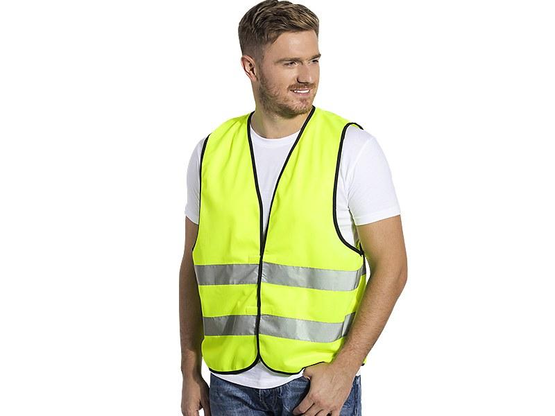 Unisex fluorescent safety reflective vest