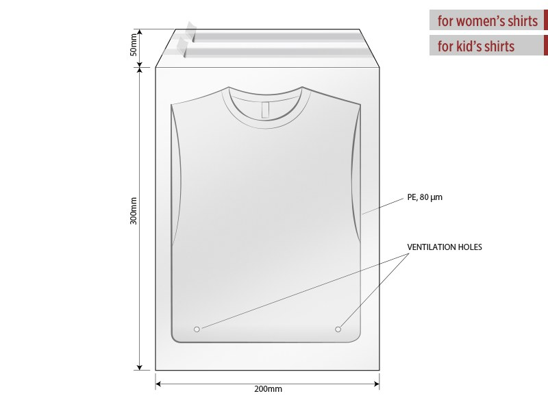 Polybag with flap and self - adhesive sealing, size 20 x 30 cm