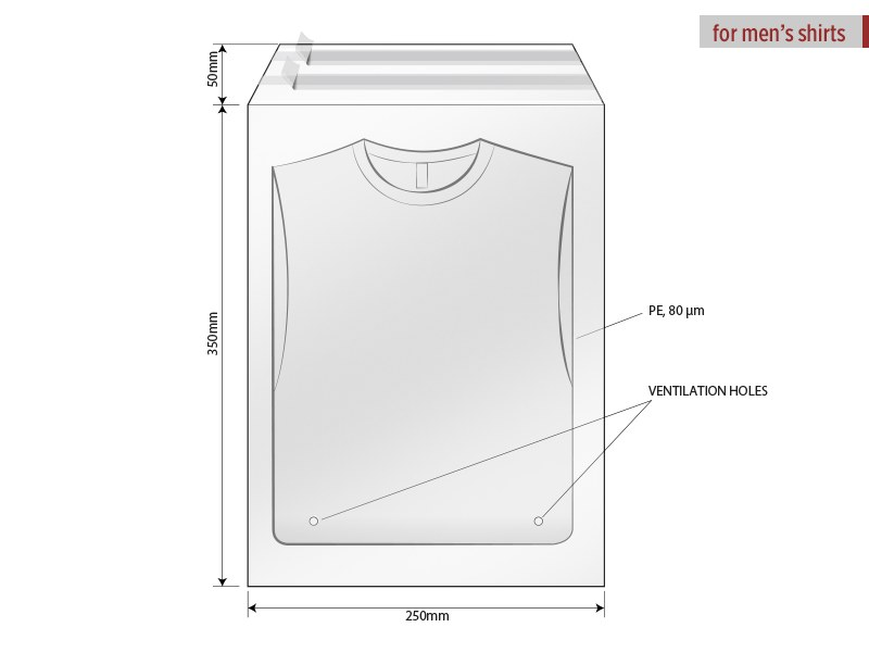 Polybag with flap and self - adhesive sealing, size 25 x 35 cm