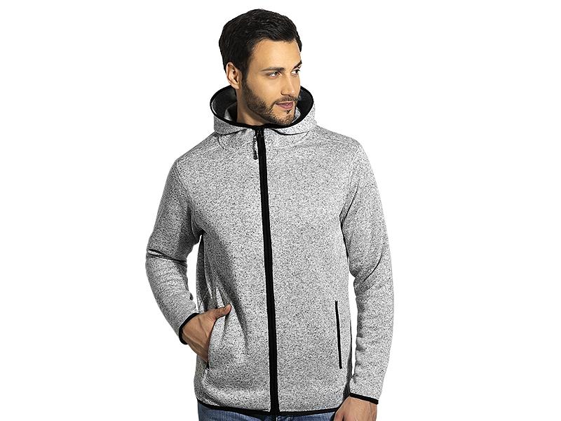 Unisex meliertes Sweatshirt mit Kapuze