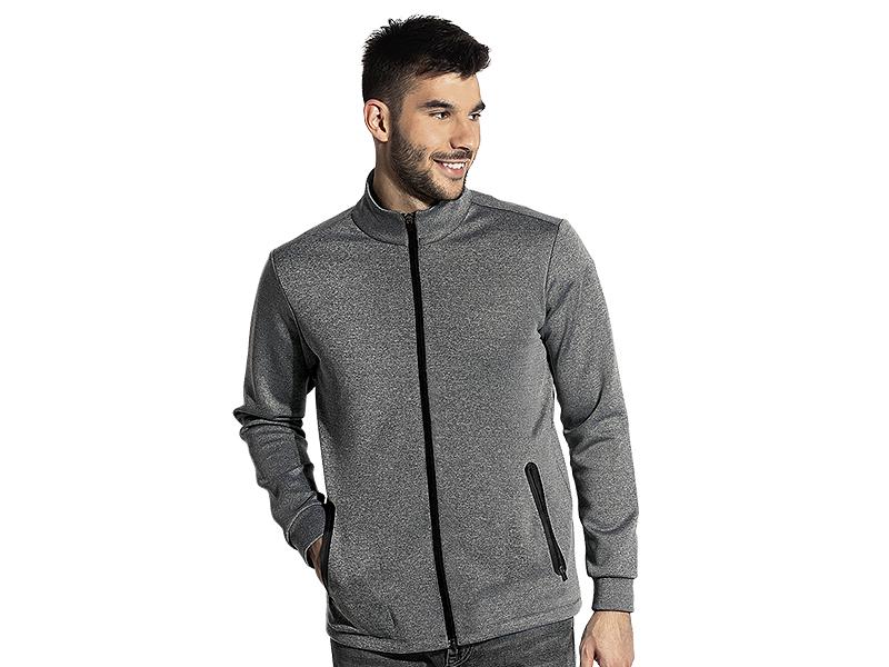 Unisex high collar sweatshirt