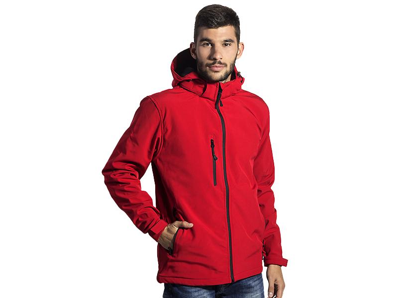 Unisex softshell -Jacke mit abnehmbarer Kapuze