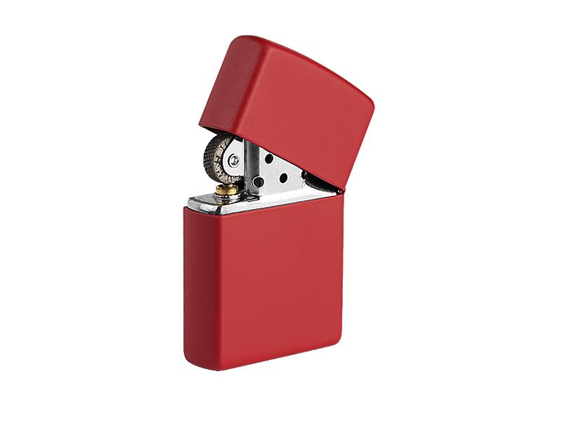 Feuerzeug aus metall in einer geschenkbox nachfüllbar, matt
