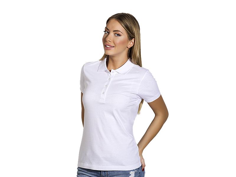 Damen Poloshirt aus Baumwolle, Jersey