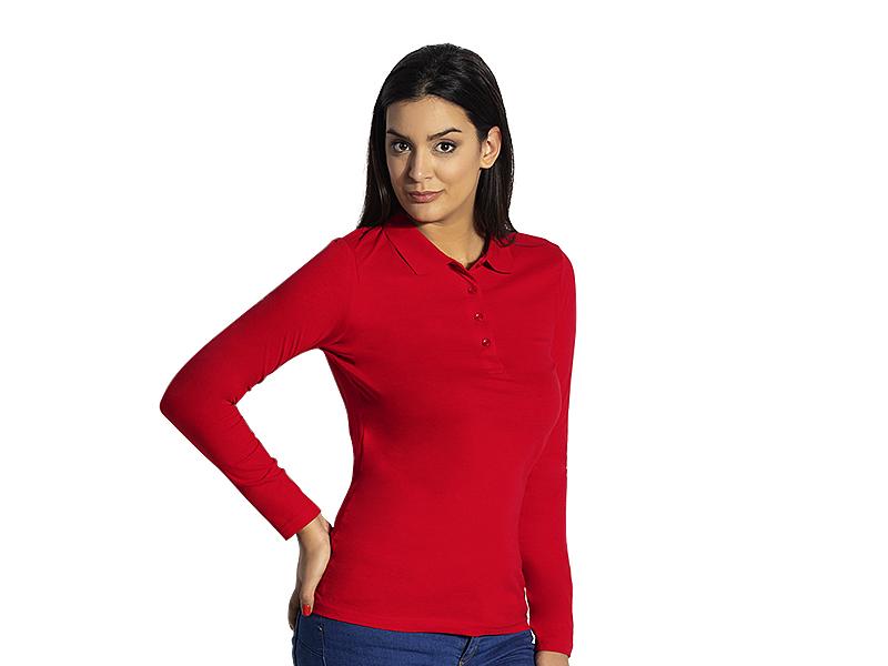 Women's long sleeve single jersey polo shirt