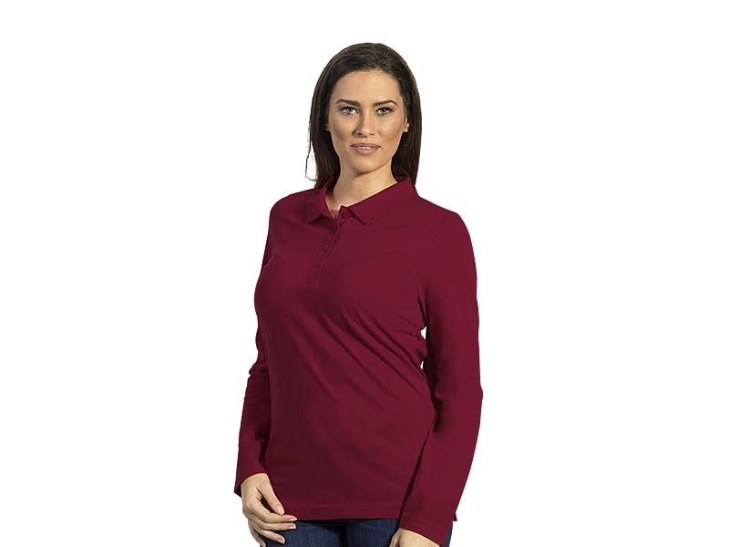 Women's long sleeved polo shirt, 100% cotton
