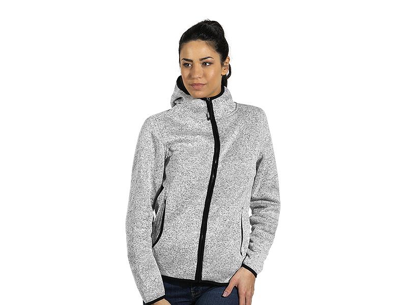 Mélange hooded sweatshirt