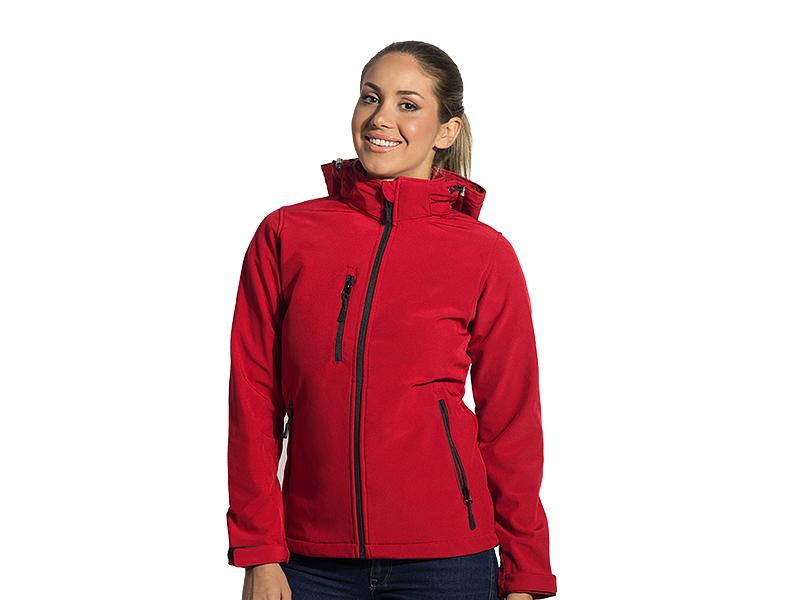 Damen Softshell -Jacke mit abnehmbarer Kapuze