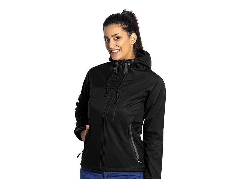 Damen Softshell -Jacke mit Kapuze