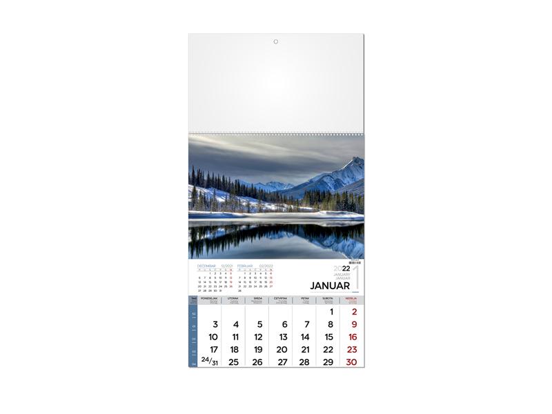 Wandkalender , 12 Seiten, Format A3