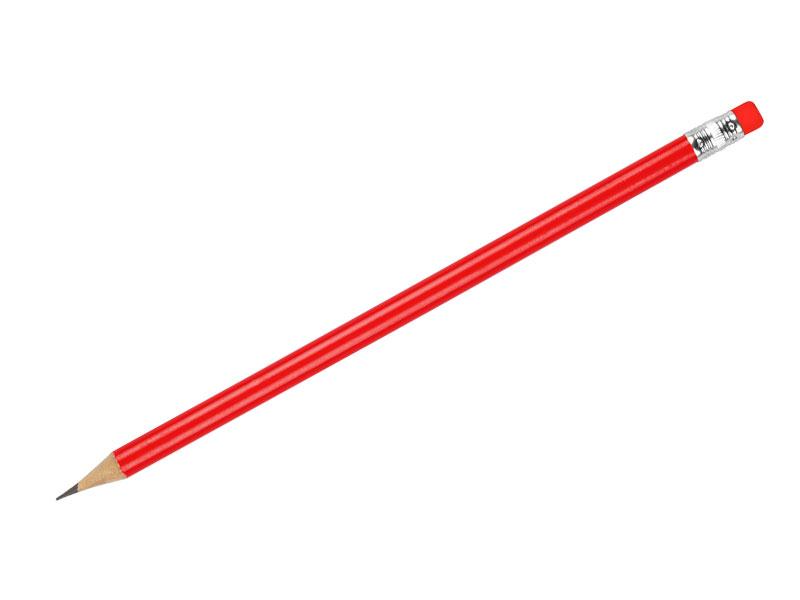Holz Bleistift HB mit Radiergummi gespitzt