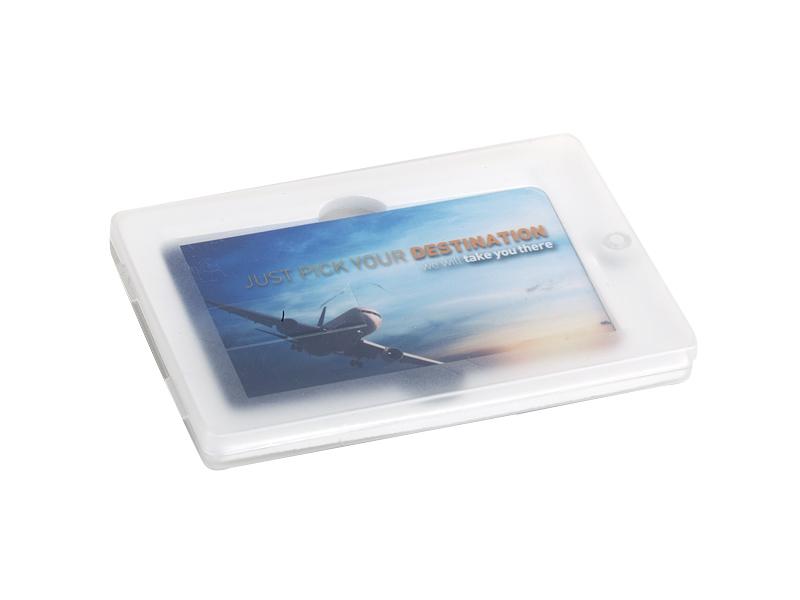 Kunststoff Geschenk-Box für CREDIT CARD USB-Stick