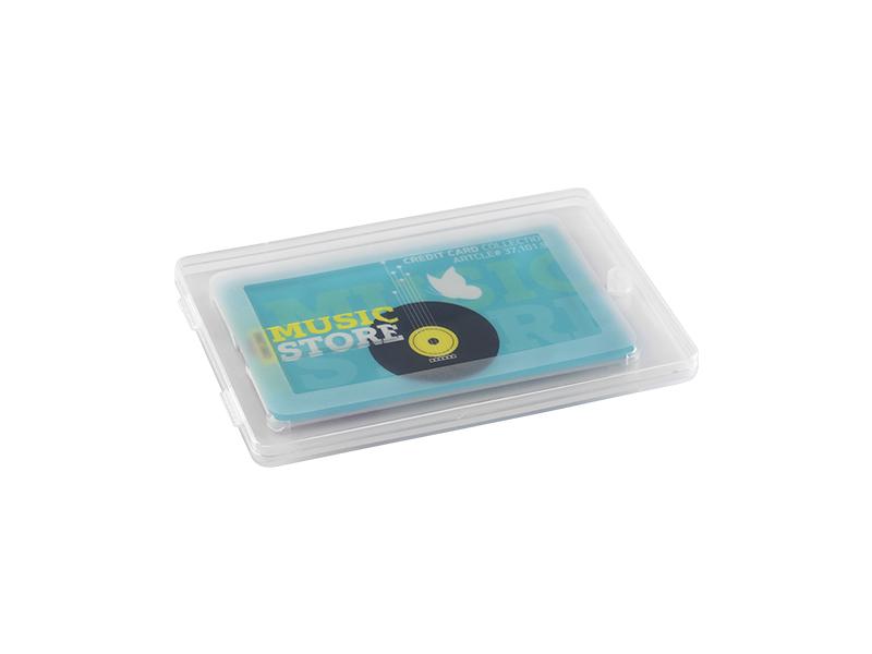 Kunststoff Geschenk-Box für CREDIT CARD USB-Sticks