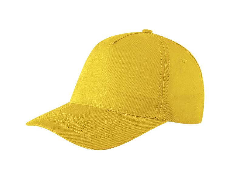 Kids' cap, 5 panels, cotton, light brushed
